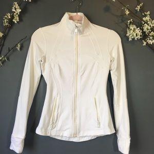 Lululemon white zip up active jacket